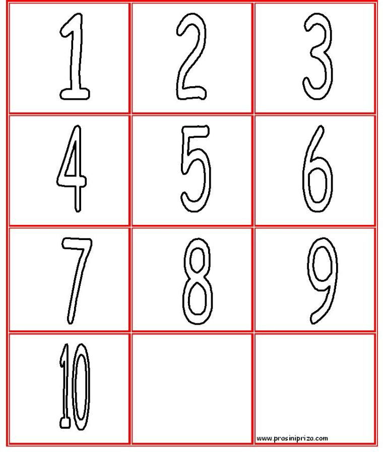 COLORING NUMBERS 1-10.