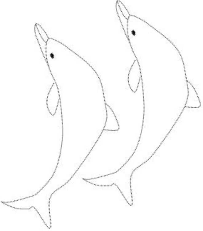 DOT TO DOT-DOLPHINS COLORING PAGES-PRASINI PRIZA