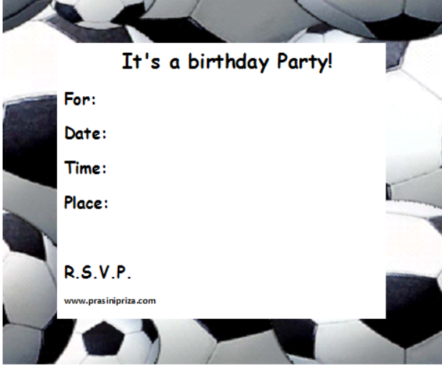 Printable Football Invitation Uk Orderecigsjuiceinfo - Birthday party invitation uk