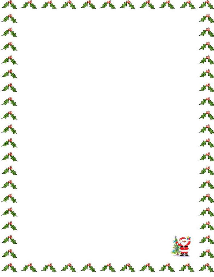 Santa borders new calendar template site for Free christmas border templates