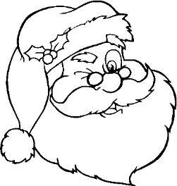 color santa claus and create your own bookmarks christmas activities - Pictures Of Santa Claus To Color